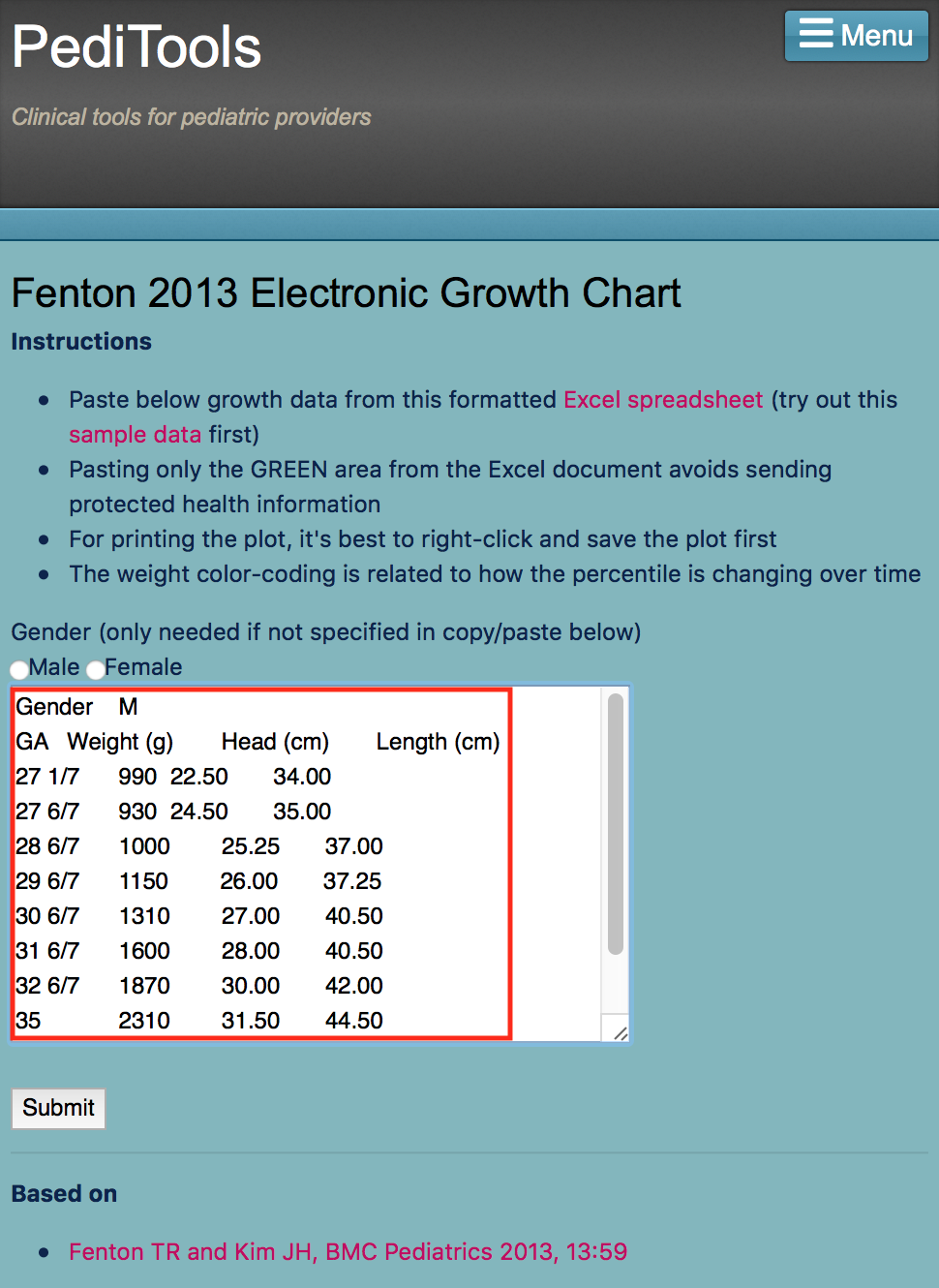 fenton 2013 electronic growth chart
